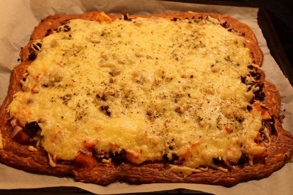 Lavkarbo-pizza (1/3)