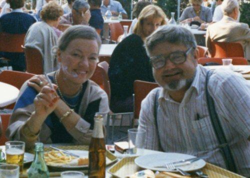 Lill og Gunanr Falling en gang på 1980-tallet