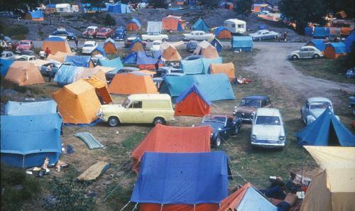 camping Roligheden Kristiansand 1960